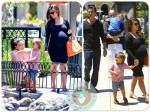 pregnant Kourtney Kardashian, Kim Kardashian, Out in Calabasas