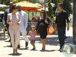 pregnant Kourtney Kardashian, Scott Disick, Mason Disick, Kim Kardashian, Kanye West Out in Calabasas