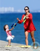 Alessandra Ambrosio, waterfight with daughter Anja Mazur