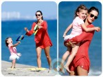 Alessandra Ambrosio with daughter on the beach with daughter Anja  copy