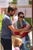 Alyson Hannigan, ALexis Denisof, Satyana Denisof, Keeva Denisof out in LA