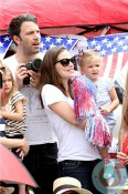 Ben Affleck, Jennifer Garner, SEraphina Affleck 4th of July Parade
