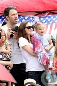 Ben Affleck, Jennifer Garner, SEraphina Affleck 4th of July Parade
