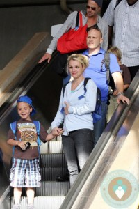 Britney Spears, Sean P Federline, Jason Trawick Maui airport