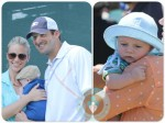 Candice and Tony ROMO with baby Hawkins