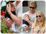 Chris Hemsworth, India Hemsworth, Elsa Pataky Santa Monica