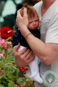 Chris Hemsworth cuddles his daughter India Hemsworth Santa Monica