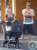 Chris Hemsworth with daughter India Rose, Cristina Medianu, Madrid