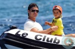 Cristiano Ronaldo and son Cristiano Ronaldo Jr.