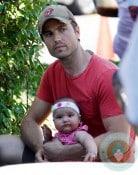 Eric Winter, daughter Sebella Rose