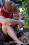 Eric Winter with daughter Sebella Rose