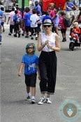 Gwen Stefani, Kingston Rossdale at central park amusement park copy