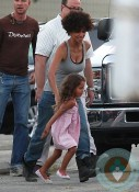 Halle Berry, Nahla Aubry, the set of The Hive California copy-1