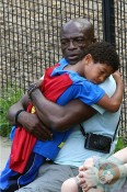 Henry Samuel with dad Seal at the park NYC