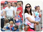 Jennifer Garner, Ben Affleck, Violet Affleck, Seraphina Affleck 4th of july