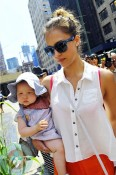 Jessica Alba and daughter Haven Warren in NYC