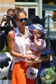 Jessica Alba & daughter Haven Warren in NYC
