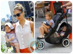 Jessica Alba out in NYC with daughters Honor and Haven