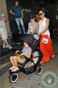 Jessica Alba with daughters Honor & Haven Warren Phil&teds copy