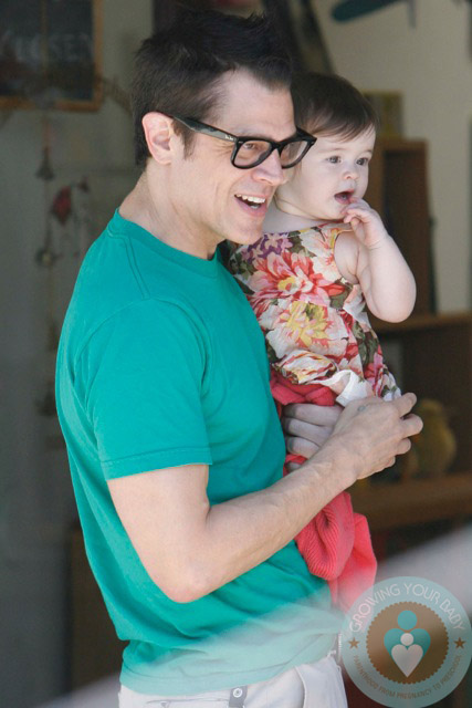 Johnny Knoxville with daughter Arlo