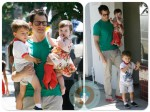 Johnny Knoxville with his kids Arlo & Rocko