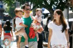 Johnny Knoxville with his wife Naomi and kids Arlo and Rocko