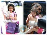 Katie Holmes and Suri Cruise leave Alice's Tea Cup NYC