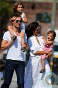 Matthew McConaughey, Levi Mcconaughey, Vida McConaughey, Camila Alves out in NYC copy