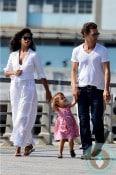 Matthew McConaughey, Vida McConaughey, Camila Alves NYC copy