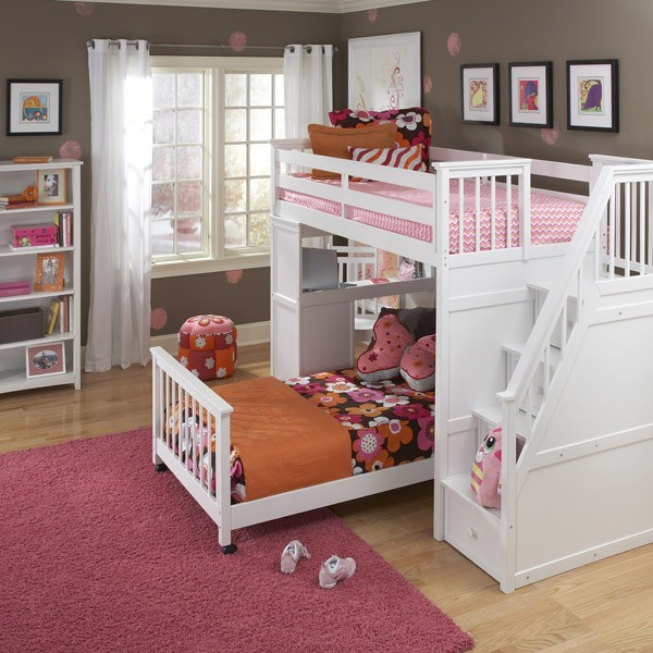 Ne Kids Schoolhouse Stair Loft White Growing Your Baby