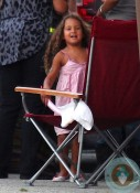 Nahla Aubry on the set of 'The Hive' California copy