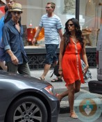 Pregnant Camila ALves and Matthew McConaughey out in NYC