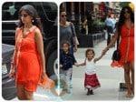 Pregnant Camilla alves, Vida McConaughey, Levi mcConaughey out in NYC
