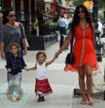 Pregnant Camilla alves, Vida McConaughey and Levi mcConaughey out in NYC