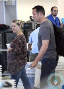 Pregnant Reese Witherspoon and Jim Toth @ LAX