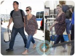 Pregnant Reese Witherspoon and Jim Toth LAX