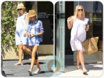 Pregnant Reese Witherspoon with daughter Ava Phillippe at the spa