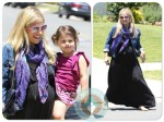 Pregnant Sarah Michelle gellar with daughter charlotte prinze