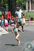 Seal with daughter Leni NYC Park