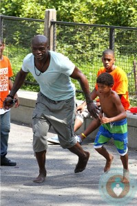 Seal with son Henry at a Park NYC