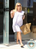Very pregnant Reese Witherspoon at the spa
