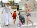 gwen stefani with her son zuma at the Santa Monica
