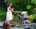 jessica alba with daughters honor warren, haven warren, Central Park NYC copy