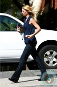 pregnant claire danes out for lunch in N