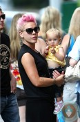 singer Pink with daughter Willow, NYC