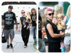 singer Pink with daughter Willow and husband Cary Hart in NYC