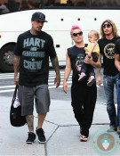 singer Pink with daughter Willow, husband Cary Hart in NYC