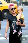 singer Pink with daughter Willow in NYC