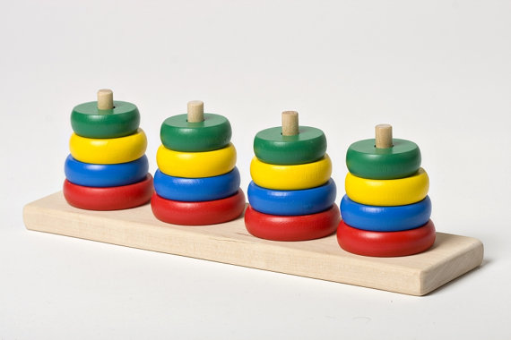 Wooden Stacking Toy Growing Your Baby