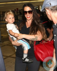 Alanis Morissette with son Ever LAX
